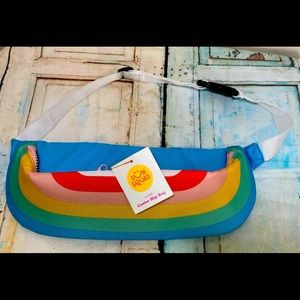 Sun Squad Rainbow 2 Can Cooler Hip Bag New